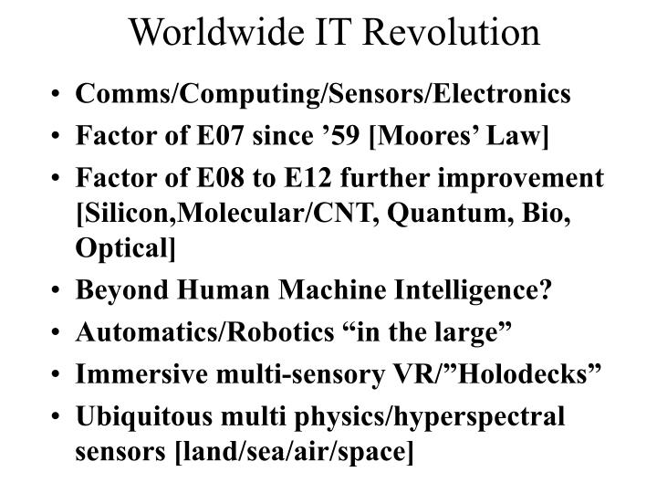 Worldwide IT Revolution