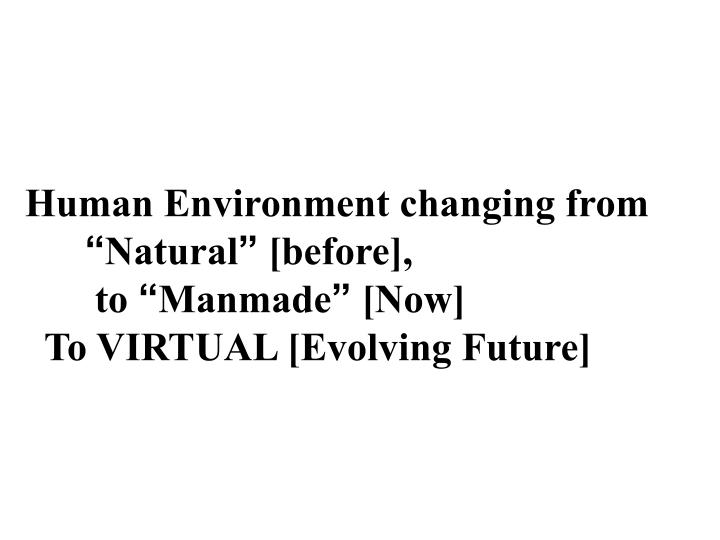 Human Environment changing from