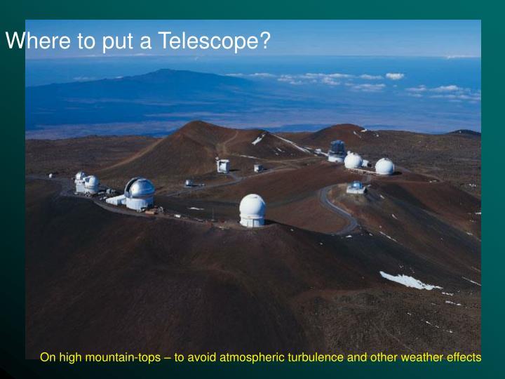 Where to put a Telescope?