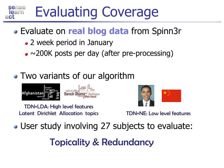 Evaluating Coverage