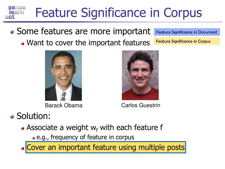 Feature Significance in Corpus