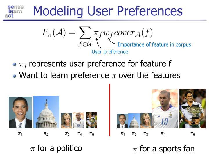 Modeling User Preferences
