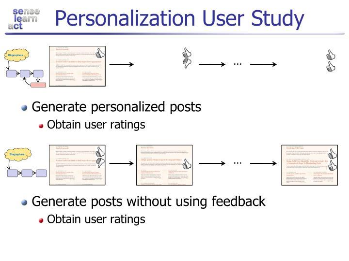 Personalization User Study