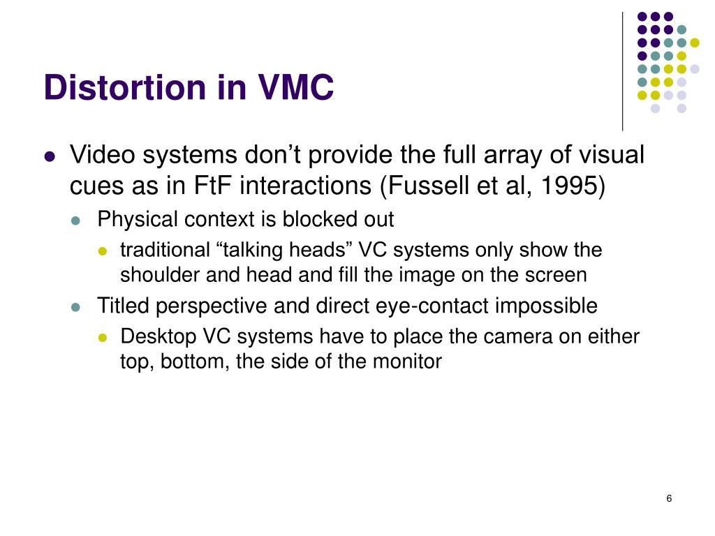 Distortion in VMC