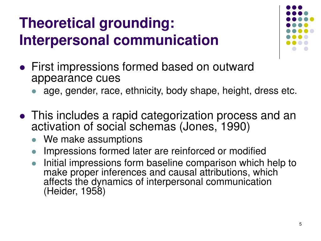 Theoretical grounding:
