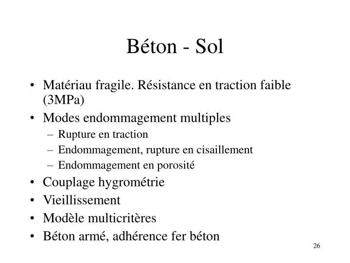 Béton - Sol