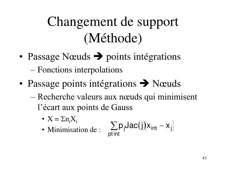 Changement de support (Méthode)