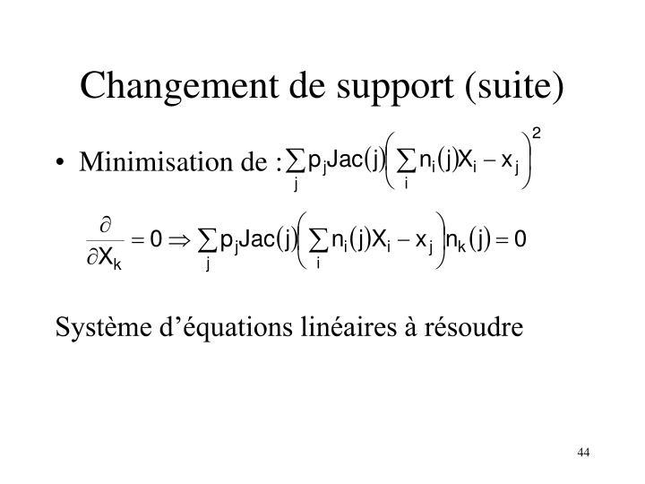 Changement de support (suite)