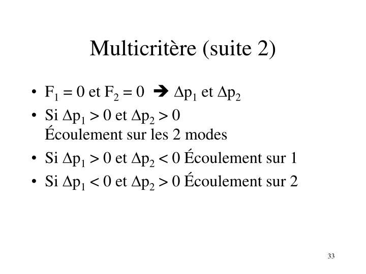 Multicritère (suite 2)
