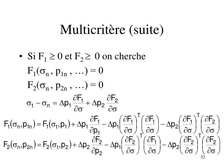 Multicritère (suite)