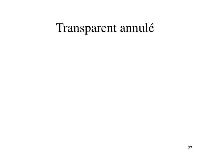 Transparent annulé