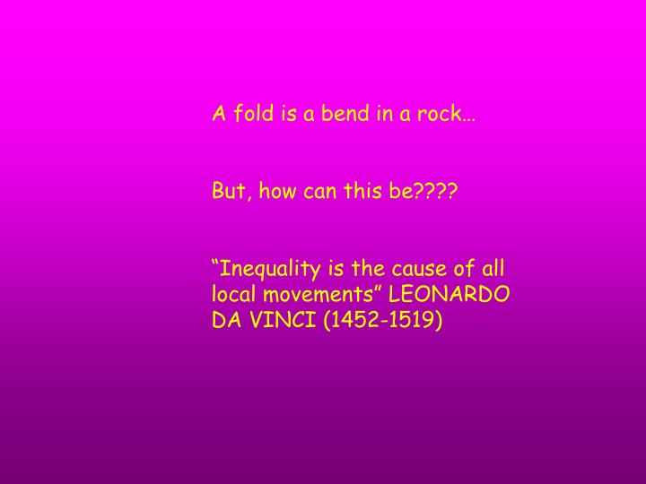 A fold is a bend in a rock…