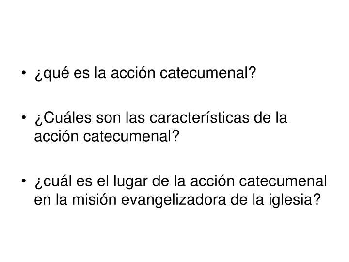 ¿qué es la acción catecumenal?