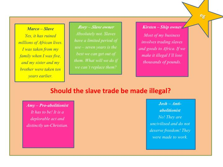 Should the slave trade be made illegal?
