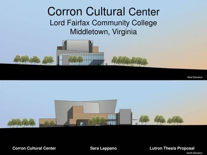 Corron cultural center lord fairfax community college middletown virginia