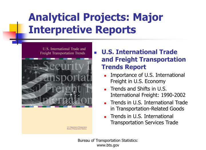 Analytical Projects: Major Interpretive Reports