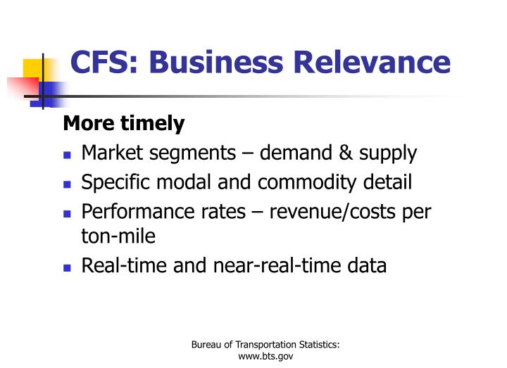 CFS: Business Relevance