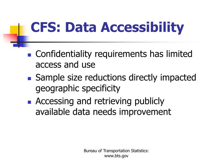 CFS: Data Accessibility