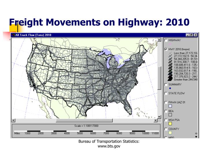 Freight Movements on Highway: 2010