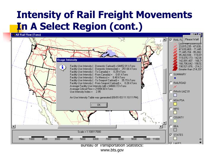 Intensity of Rail Freight Movements