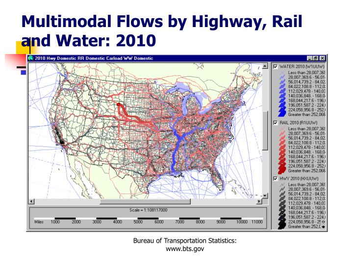 Multimodal Flows by Highway, Rail