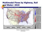 multimodal flows by highway rail and water 2010