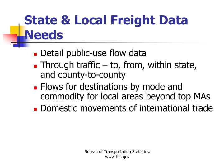 State & Local Freight Data Needs