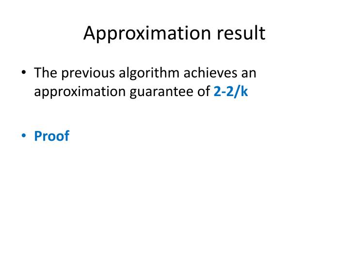 Approximation result