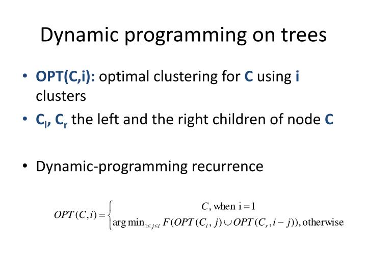 Dynamic programming on trees