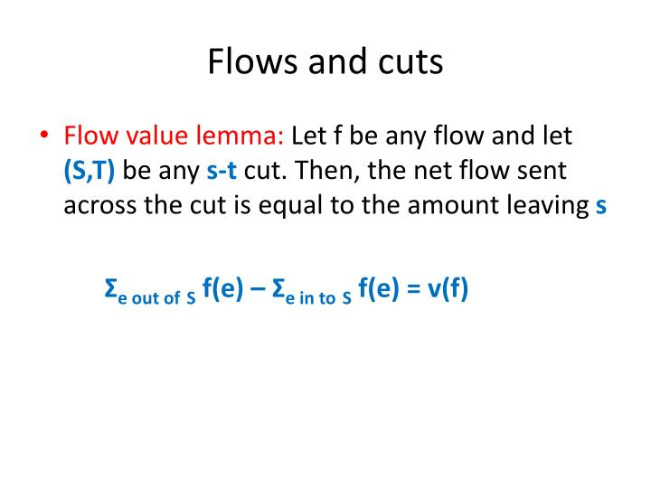 Flows and cuts