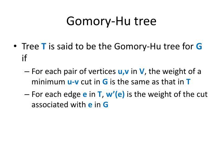 Gomory-Hu tree