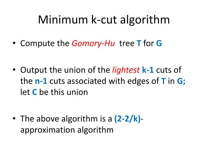 Minimum k-cut algorithm