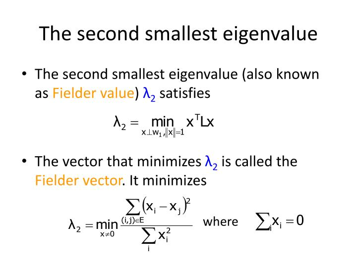 The second smallest eigenvalue