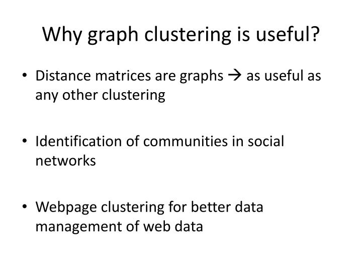 Why graph clustering is useful?