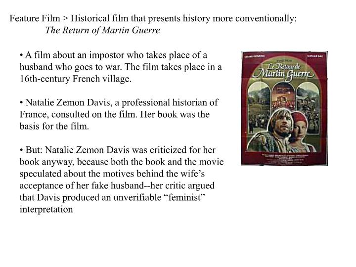 Feature Film > Historical film that presents history more conventionally: