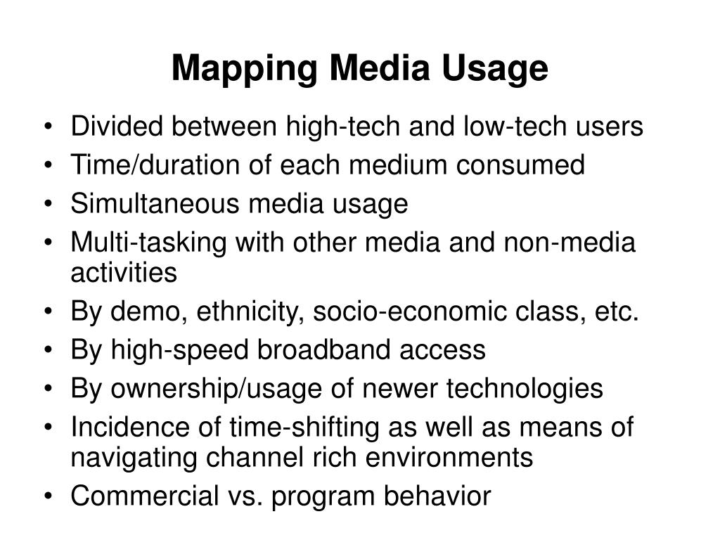 Mapping Media Usage
