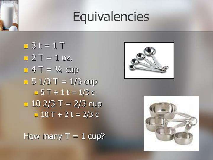 Equivalencies