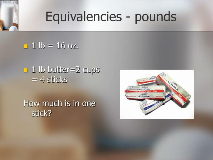 Equivalencies - pounds