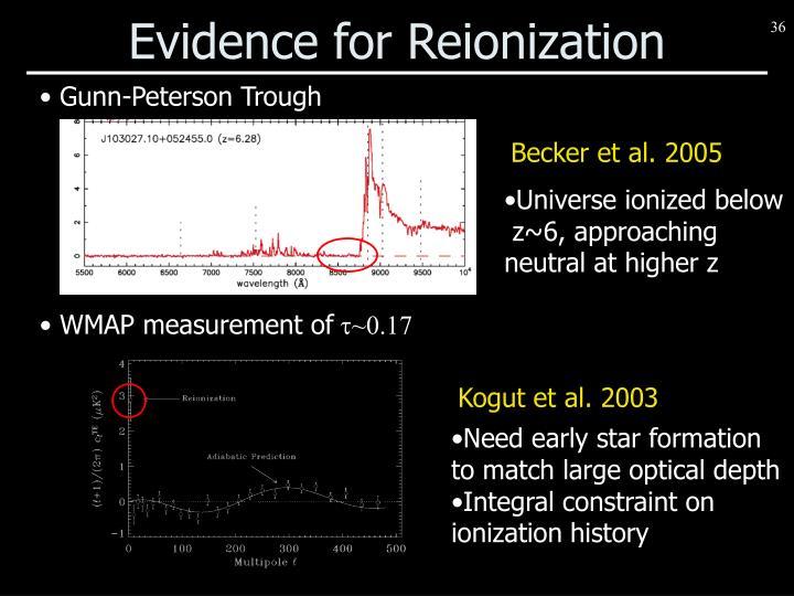 Evidence for Reionization