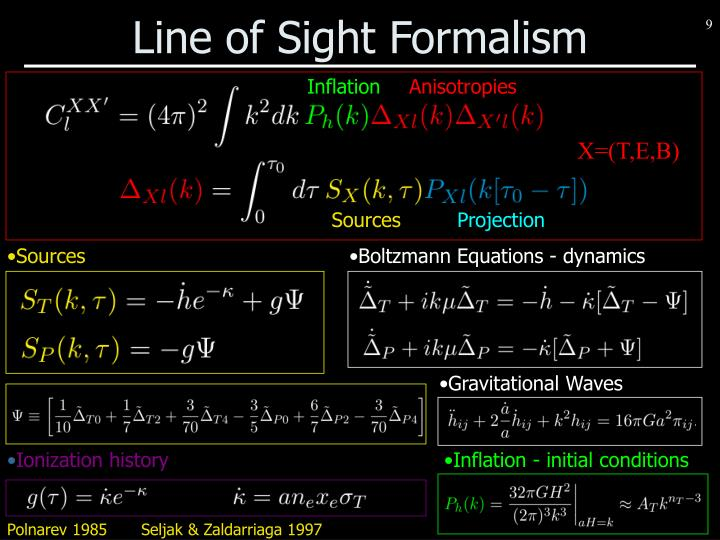 Line of Sight Formalism