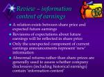 review information content of earnings1