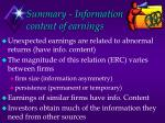 summary information content of earnings