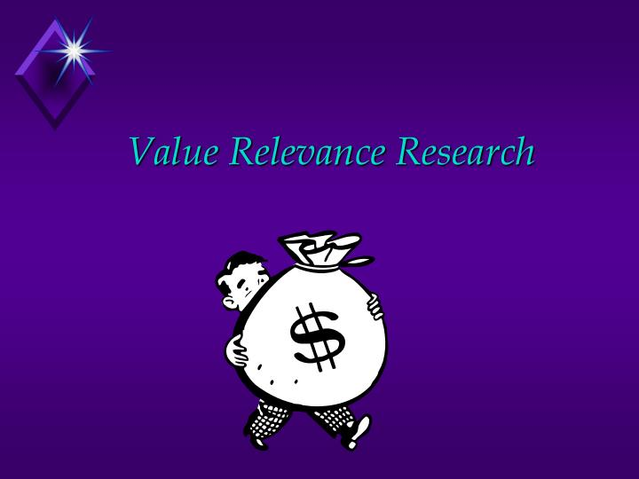 Value Relevance Research