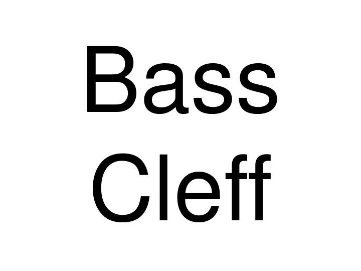 Bass Cleff