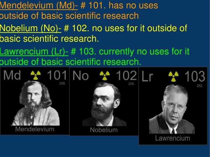 Nobelium (No)-