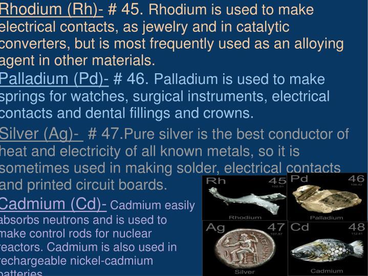 Rhodium (Rh)-