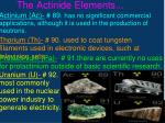 the actinide elements