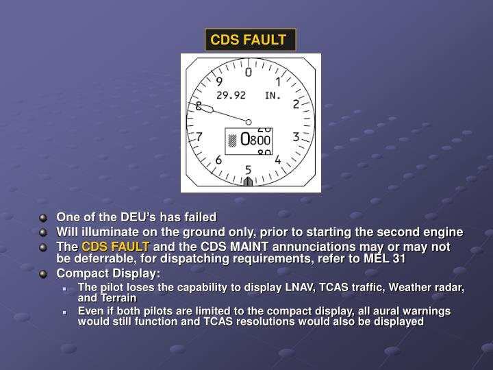 CDS FAULT