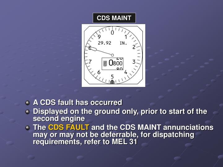 CDS MAINT