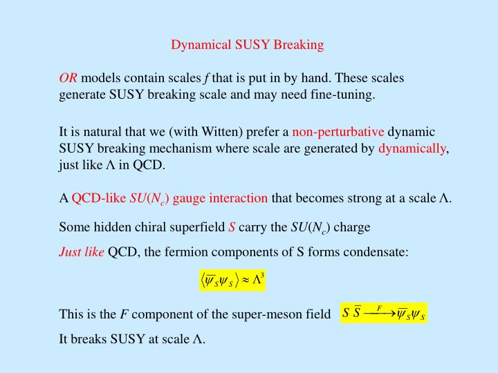 Dynamical SUSY Breaking